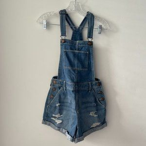 Hollister High-Rise Mom Jeans Short Overall